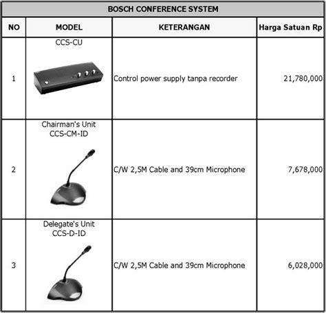 Harga Bosh harga mic conference bosch ccs 900 ultro alat audio