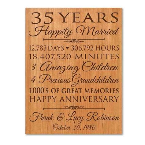 35th Wedding Anniversary Card Quotes by Best 25 35th Wedding Anniversary Ideas On 60