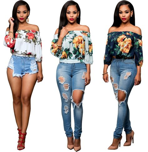 Fashion Top by 2017 Floral Print Crop Tops Top Fashion