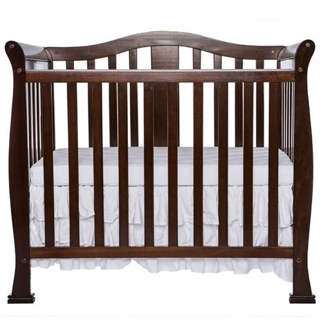 Dream On Me Naples 4 In 1 Convertible Mini Crib In Espresso Mini Crib
