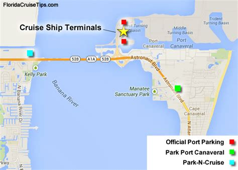 port canaveral map florida port canaveral cruise parking florida cruise tips