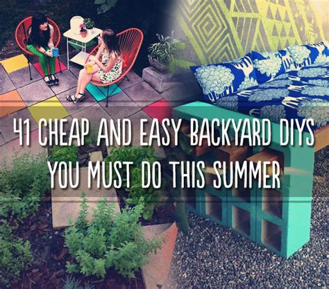cheap diy backyard projects 41 cheap and easy backyard diys you must do this summer