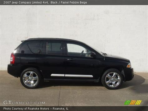 jeep compass limited black black 2007 jeep compass limited 4x4 pastel pebble