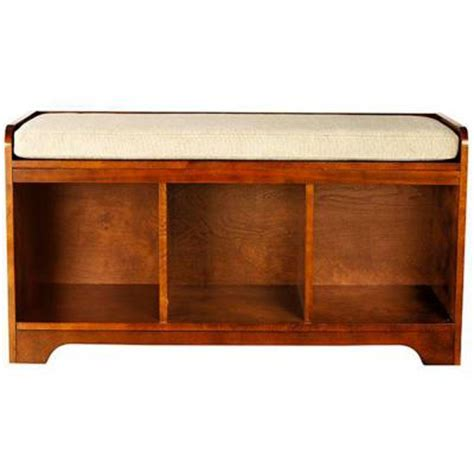 4 cubby storage bench home decorators collection wellman 38 in w 3 cubby storage bench with cushion in dark