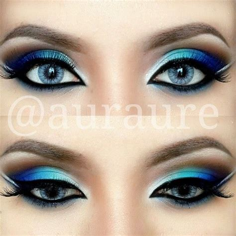makeup colors blue green silver eye makeup pictures photos and