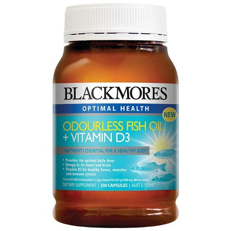 Vitamin Blackmores buy blackmores odourless fish vitamin d3 200 capsules at chemist warehouse 174