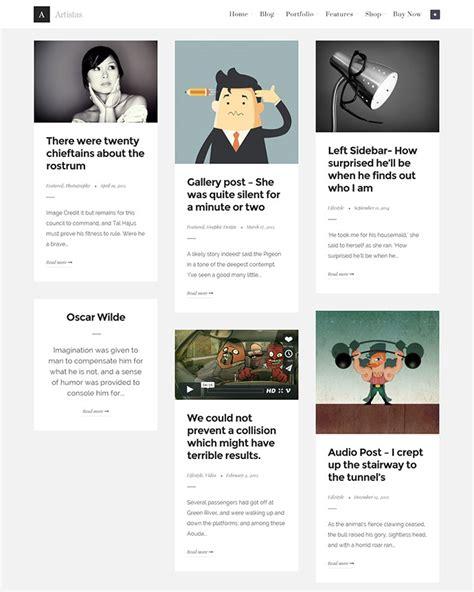 wordpress theme flexible layout 25 beautiful card based wordpress themes idevie