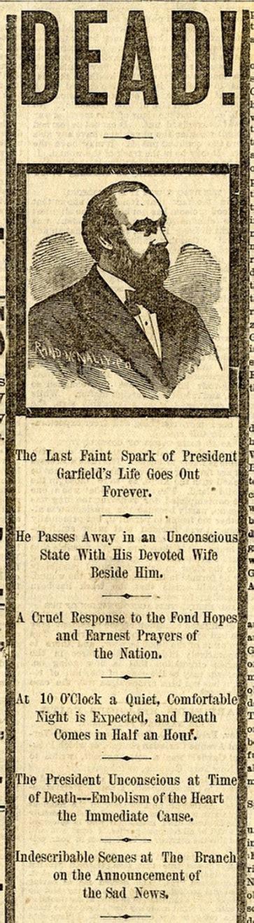 president garfield finally dies  washington