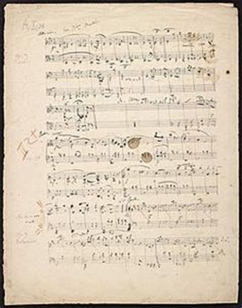 Schumann 4 Sketches by A Manuscript Copy Of Beethoven S Symphony No 1 Part Of