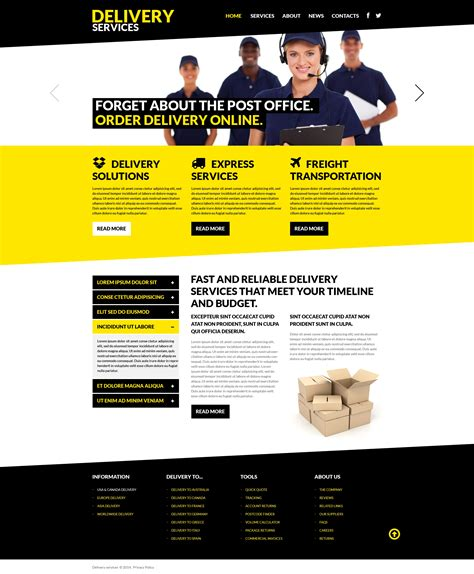 Delivery Services Responsive Website Template 50710 Information Web Template