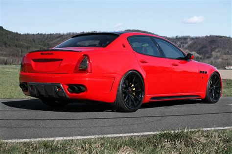 red maserati quattroporte maserati quattroporte gets full tuning package from cdc