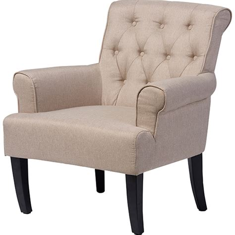 rolled arm tufted barret upholstered rolled arm accent club chair button