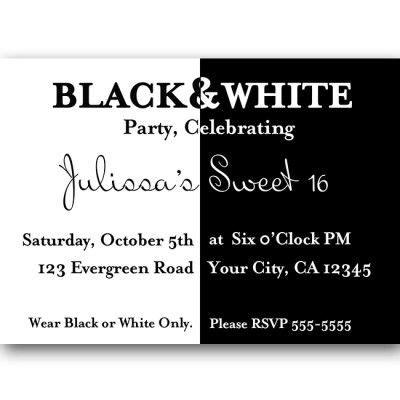 Free Black And White Birthday Invitations Design Birthday Invitation For Kids Pinterest Black And White Invitation Templates Free