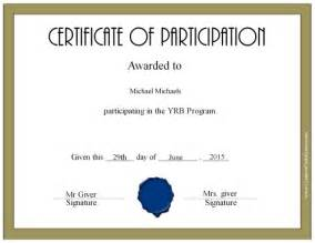 Participation Certificate Template by Certificate Of Participation Certificate Templates