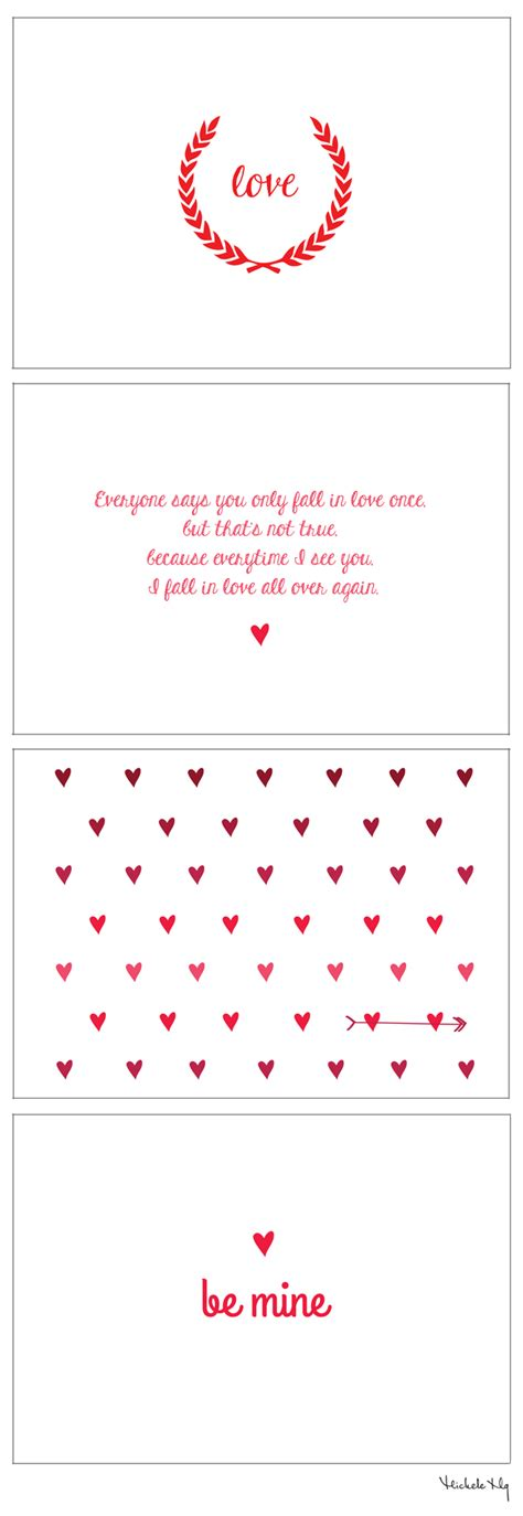 Valentines Card Template Pdf by Free S Day Printable Cards