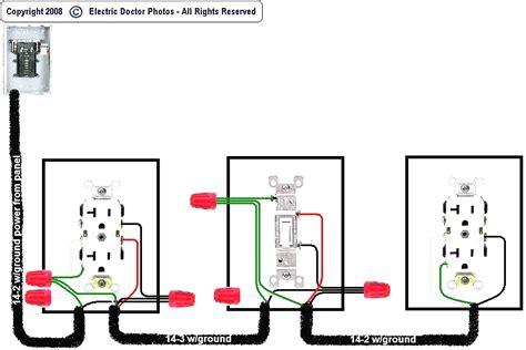 wiring diagram for 110v outlet wiring diagram not center