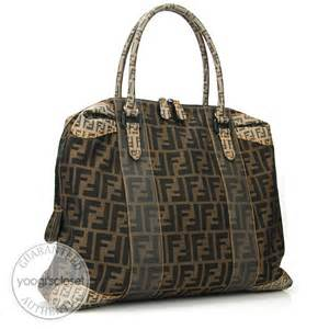 Fendi B Mix Large Tote by Fendi Tobacco Zucca Canvas B Mix Large Tote Bag Yoogi S