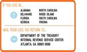 Irs Address Irs Address To File A Late Tax Return Priortax