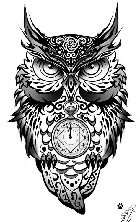 tattoo tribal owl black and white owl tattoo design www pixshark com