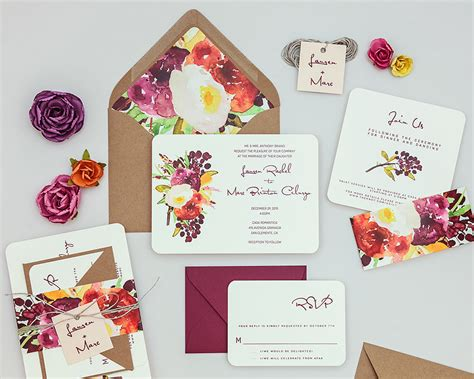 Wedding Invitations Floral by Rustic Floral Modern Wedding Invitation Templaterustic Floral