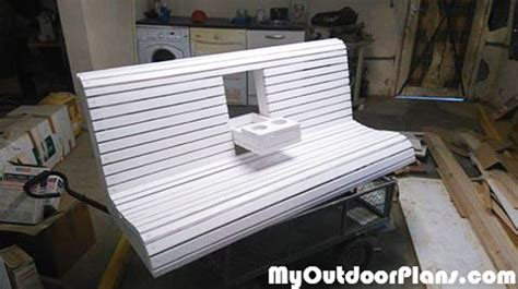 homemade bench swing diy wooden porch swing bench myoutdoorplans free woodworking plans and projects