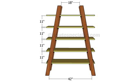 How To Build Ladder Shelf by Woodworking Plans Ladder Shelf