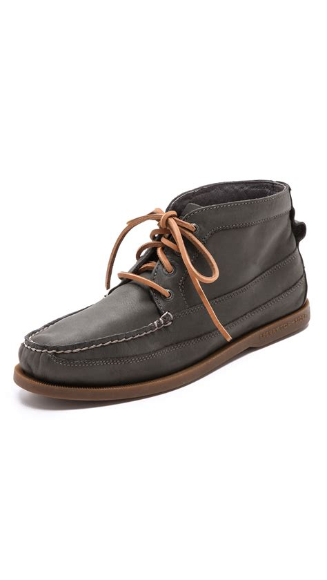 boat chukka boots sperry top sider boat chukka boots in blue for men dark