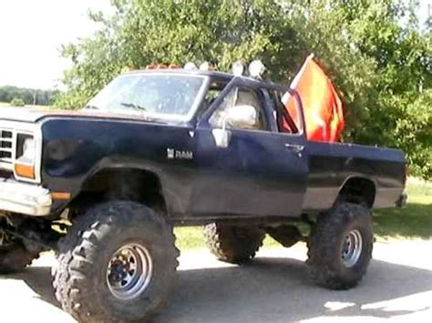 dodge mud truck 1987 4x4 dodge mud truck youtube