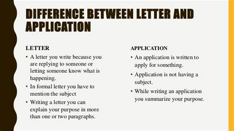 Difference Between Business Letter And Application the difference between application letter and cover letter