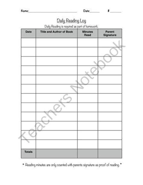 printable reading log 8th grade reading log from mrs henley s creations on