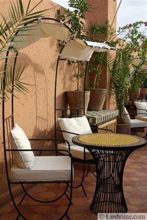 20 Moroccan Decor Ideas For Exotic And Glamorous Outdoor Rooms Moroccan Patio Furniture