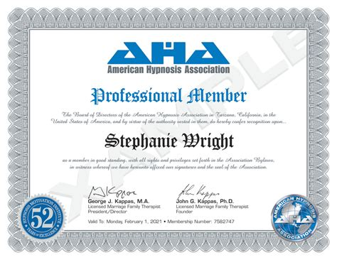 american hypnosis association aha national association