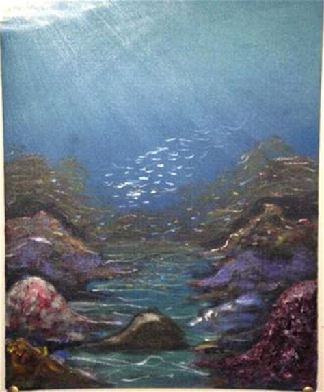 acrylic painting underwater water painting