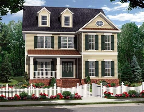colonial home styles two story colonial house plan no 45319 design bookmark