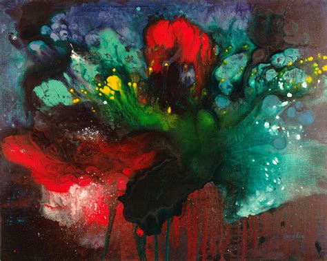 how to paint acrylic on canvas in abstract picking flowers abstract acrylic painting the artwork