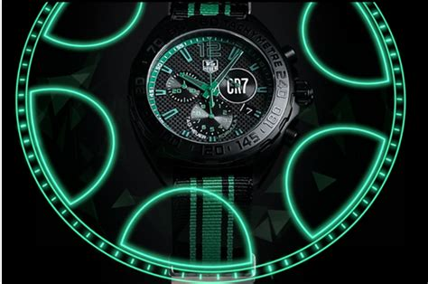 Tagheuer Cr7 Black Green tag heuer cr7 with cristiano ronaldo