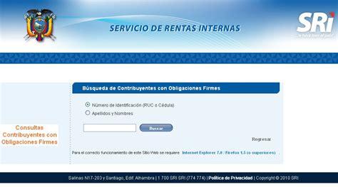lista blanca sri ecuador inicio servicio de rentas internas del ecuador autos weblog
