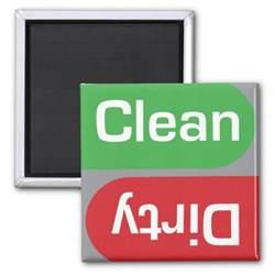 Dishwasher Clean Sign Dishwasher Clean Or Sign Fridge Magnet Zazzle