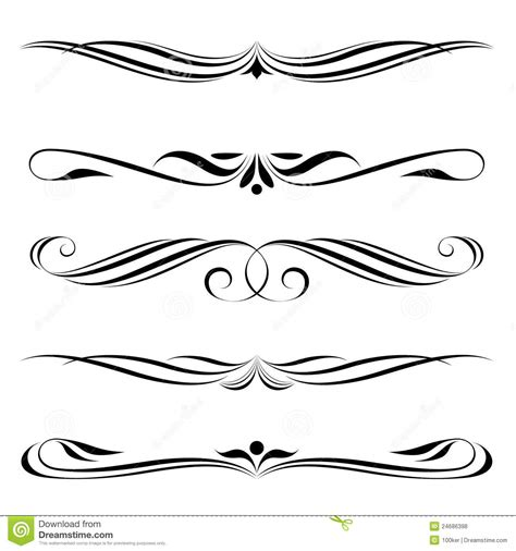 decorative elements border and page royalty free