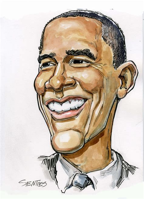 caricature barack obama c senties comedy capers