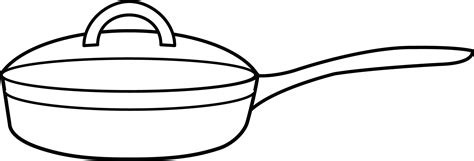 frying pan coloring page free clip art