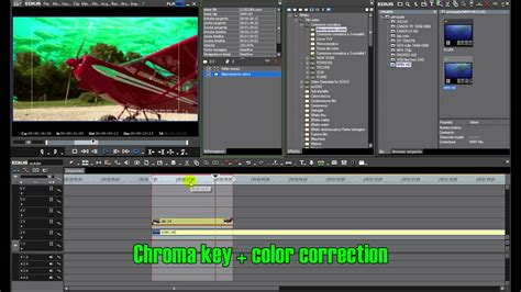 edius 6 demo part 2 of 3 color correction chroma key color grading after effects plugins