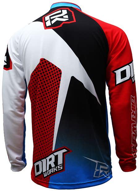 Kaos Tshirt V Neck Bike To Work Putih Dtg Custom jersey sepeda dirtworks rekluse biru merah jual baju jersey celana sepeda mtb