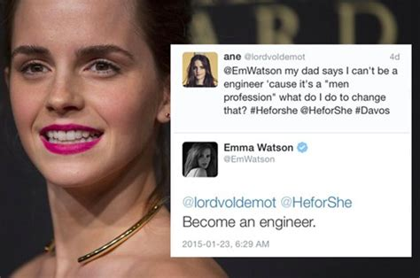 emma watson address emma watson told a young girl to ignore her dad s advice