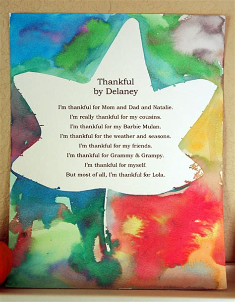 thankful crafts for thankful poems let s explore