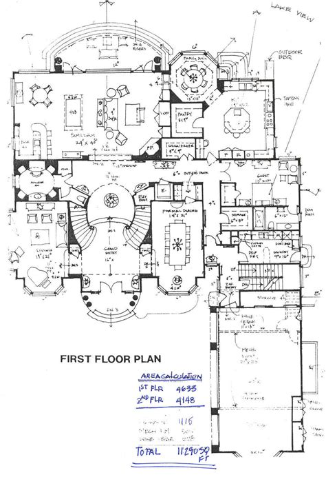 mansion floorplan building plans