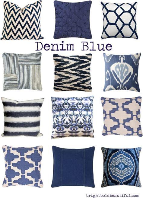 denim blue pillows home decor bright bold and beautiful
