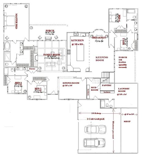 large 1 story house plans pinterest