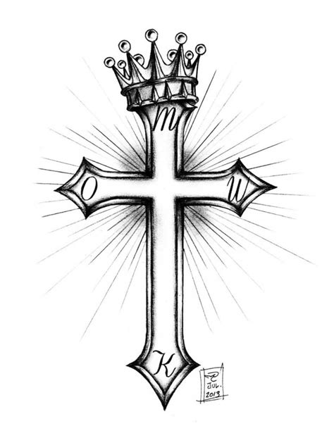 cross tattoo with crown cross and crown by morobles on deviantart