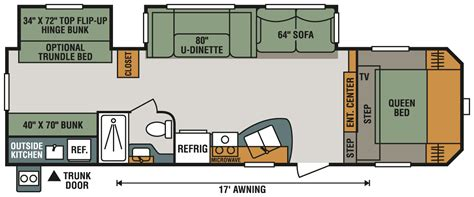5th Wheel Floor Plans by Sportsmen 301bhk Fifth Wheel K Z Rv